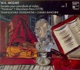 Sonates 'Palatines' pour piano-forte et violon / vol.1