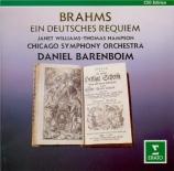BRAHMS - Barenboim - Ein deutsches Requiem (Un Requiem allemand), pour s