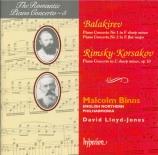 BALAKIREV - Binns - Concerto pour piano n°1 en fa dièse majeur op.1