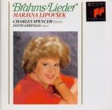 BRAHMS - Lipovsek - Gestillte Sehnsucht (Rückert), mélodie pour une voix
