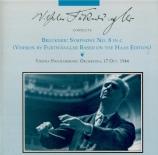 BRUCKNER - Furtwängler - Symphonie n°8 en ut mineur WAB 108