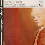 SCHOBERT - Sgrizzi - Quatuor en fa mineur op.7 n°2