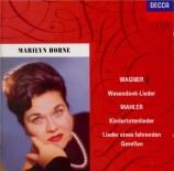 MAHLER - Horne - Kindertotenlieder (Chants pour des enfants morts), cycl
