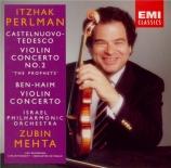 CASTELNUOVO-TEDESCO - Perlman - Concerto pour violon n°2 op.66 'Les prop