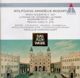 MOZART - Harnoncourt - Missa solemnis en do majeur, pour solistes, chœur