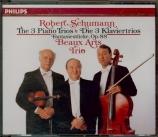 SCHUMANN - Beaux Arts Trio - Trio avec piano n°1 en ré mineur op.63