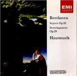 BEETHOVEN - Hausmusik - Quintette à cordes n°2 op.29