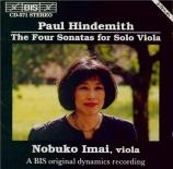HINDEMITH - Imai - Sonate pour alto seul op.11 n°5
