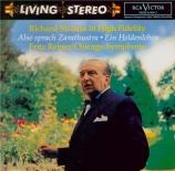 STRAUSS - Reiner - Also sprach Zarathustra, poème symphonique pour grand