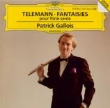 TELEMANN - Gallois - Fantaisie pour flûte traversière  -  flûte à bec, en
