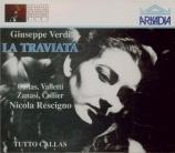 VERDI - Rescigno - La traviata, opéra en trois actes Live Covent Garden, 20 - 6 - 1958