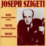 BACH - Szigeti - Concerto pour clavecin et cordes n°1 en ré mineur BWV.1