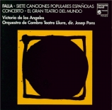 FALLA - De los Angeles - Sept chansons populaires espagnoles