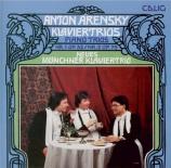 ARENSKY - Neues Münchner - Trio avec piano n°1 op.32