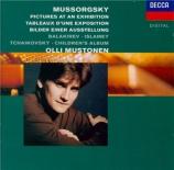 MOUSSORGSKY - Mustonen - Tableaux d'une exposition, pour piano