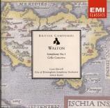 WALTON - Rattle - Concerto pour violoncelle op.68