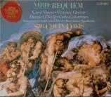 VERDI - Davis - Messa da requiem, pour quatre voix solo, chœur, et orche