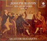 HAYDN - Quatuor Mosaïqu - Six quatuors à cordes op.20 Hob.III:31-36 Hob