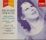 STRAUSS - Kempe - Ariadne auf Naxos (Ariane à Naxos), opéra op.60