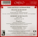 SCHUBERT - Fischer-Dieskau - Schwanengesang (Le chant du cygne), cycle d