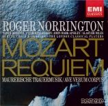 MOZART - Norrington - Requiem pour solistes, chœur et orchestre en ré mi