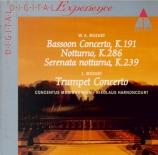 MOZART - Harnoncourt - Sérénade pour orchestre n°6 'Serenata nottu