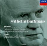 BACH - Backhaus - Suite anglaise n°6, pour clavier en ré mineur BWV.811