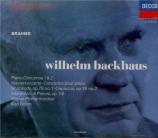 BRAHMS - Backhaus - Concerto pour piano et orchestre n°1 en ré mineur op