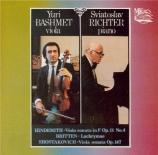 HINDEMITH - Richter - Sonate pour alto et piano op.11 n°4