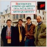 BEETHOVEN - Artis Quartet - Quatuor à cordes n°1 op.18-1