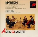 WEBERN - Artis Quartet - Langsamer Satz, pour quatuor à cordes WoO