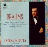 BRAHMS - Bonatta - Sonate pour piano n°1 en do majeur op.1