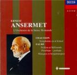 FAURE - Ansermet - Pelléas et Mélisande op.80 : suite pour orchestre Vol.5