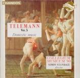 TELEMANN - Standage - Trio pour deux violons et basse continue, en mi bé Domestic Music Vol.3