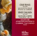 FRANCK - Quatuor Athenae - Quintette pour piano et cordes enfamineur F