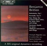 BRITTEN - Vänskä - Sinfonietta, pour orchestre de chambre op.1