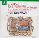 BACH - Koopman - Fantaisie chromatique et fugue, pour clavier en ré mine