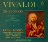 VIVALDI - Biondi - Sonates (12) pour violon et b.c. (Manuscrit de Manche