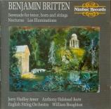 BRITTEN - Boughton - Les Illuminations (Rimbaud), cycle de mélodies pour