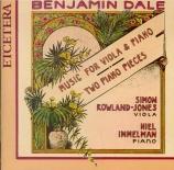 DALE - Rowland-Jones - Suite pour alto et piano op.2