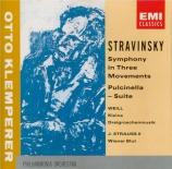 STRAVINSKY - Klemperer - Symphonie en trois mouvements, pour orchestre