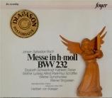 BACH - Karajan - Messe en si mineur, pour solistes, chœur et orchestre B