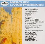 SAINT-SAËNS - Paray - Symphonie n°3 'Avec orgue'
