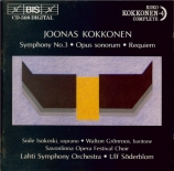 KOKKONEN - Söderblom - Symphonie n°3 (Kokkonen complete vol.4) Kokkonen complete vol.4
