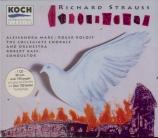 STRAUSS - Bass - Friedenstag (Jour de paix), opéra op.81 Premier enregistrement mondial