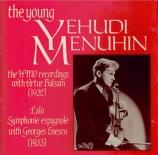 The young Yehudi Menuhin