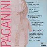 PAGANINI - Ricci - Quatuor pour guitare et cordes n°7 en mi majeur MS.34