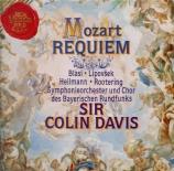 MOZART - Davis - Requiem pour solistes, chœur et orchestre en ré mineur