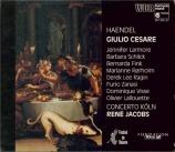 HAENDEL - Jacobs - Giulio Cesare in Egitto (Jules Cesar), opéra en 3 act