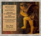HAENDEL - Spering - Acis and Galatea, masque HWV.49a : orchestration Moz Arrangements de Mozart